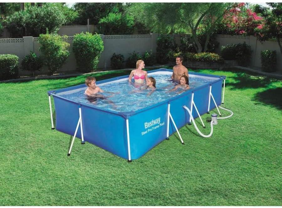Piscina Desmontable Tubular Infantil Family Splash Frame Pool 400x211x81 cm Depuradora de cartucho de 1.249 litros/hora