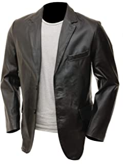 New Men/'s Genuine soft Lambskin Leather TWO BUTTON Blazer Coat Jacket B#43