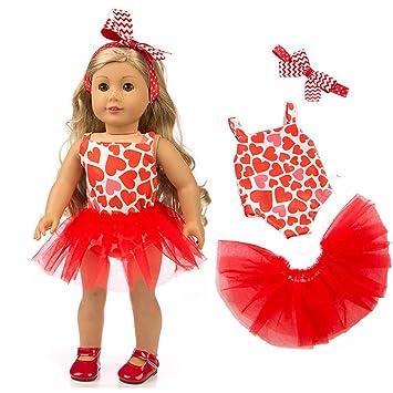 Amazon.com: Livoty - Juego de ropa de muñeca con hermoso ...