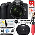 Nikon COOLPIX B700 20.2 MP 60x Optical Zoom Super Telephoto NIKKOR Digital 4K Wi-Fi Camera (Black) + 64GB SDXC Memory & Accessory Bundle by Nikon