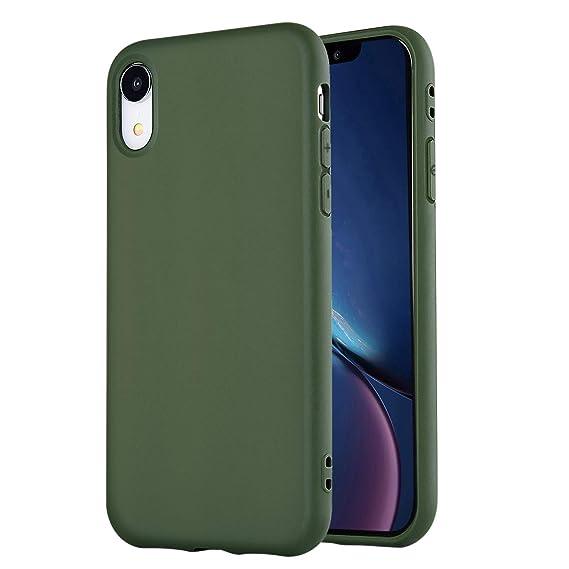 huge discount f7104 e7f6a iPhone XR Case,iPhone XR Phone Case, Manleno Slim Fit Full Matte Skin Case  Soft Flexible TPU Silicone Cover Case for iPhone XR 6.1