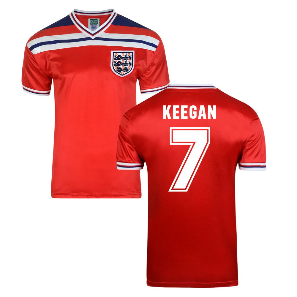Score Draw England World Cup 1982 Away Shirt (Kevin Keegan 7) B01GH6Y2OK Small Adults|Red Red Small Adults