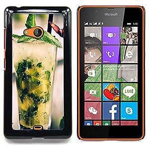 """Qstar Arte & diseño plástico duro Fundas Cover Cubre Hard Case Cover para Nokia Lumia 540 (Fresco cóctel Mojito"""")"""
