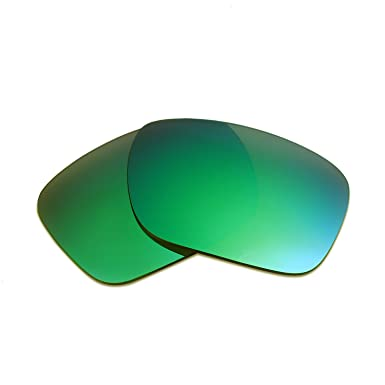 HKUCO Plus Mens Replacement Lenses For Oakley Straight Jacket (2007) Titanium/Emerald Green Sunglasses