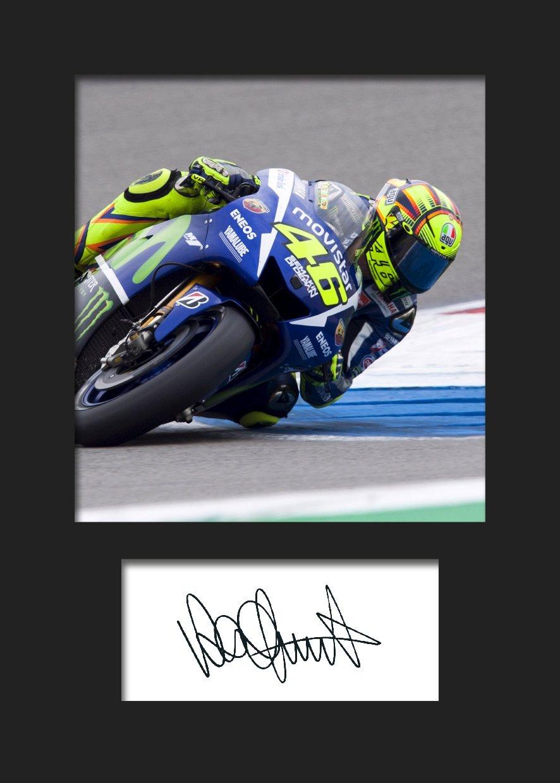 Valentino Rossi # 1 signiert Foto A5 Print