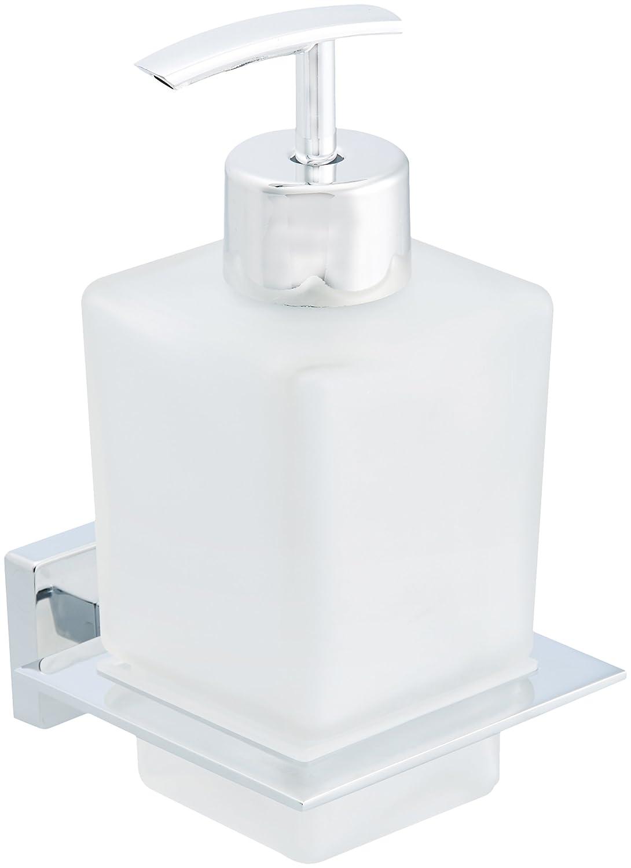 AmazonBasics - Dosatore di sapone liquido, stile europeo, con finitura cromata lucida AB-BR826-PC