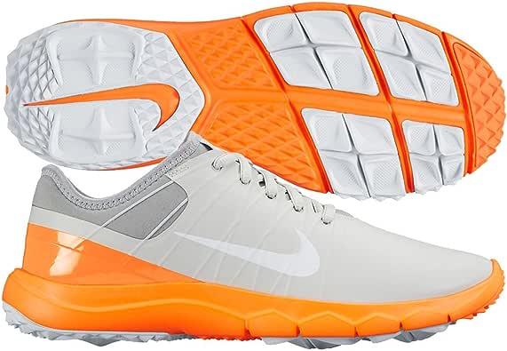 Zapatillas de golf Nike FI Impact 2 Spikeless 2015 para mujer Pure Platinum / Wolf Gray / Citrus Medium 7: Amazon.es: Zapatos y complementos