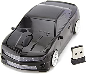 FASBEL for Chevrolet Camaro Sports Car Mouse Wireless Mice Computer Laptop PC Optical Mouse (Black)