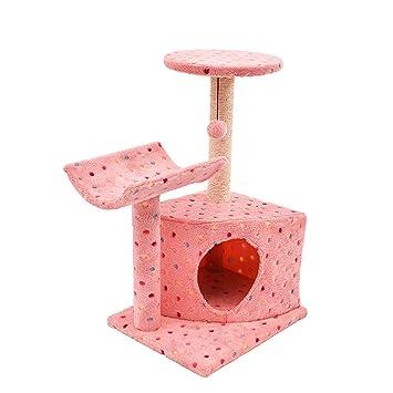 QNMM Árbol De Actividad del Gato con Postes De Rasguño Torre De Gato para Mascotas Juguetes para Escalar Árbol De Actividad con Perchas: Amazon.es: Hogar