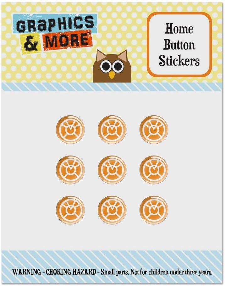 Green Lantern Blackest Night Orange Lantern Logo Set of 9 Puffy Bubble Home Button Stickers Fit Apple iPod Touch, iPad Air Mini, iPhone 5/5c/5s 6/6s 7/7s Plus
