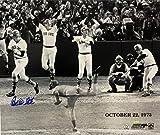 Carlton Fisk Boston Red Sox Signed 24x21 1975 WS HR Photo TriStar + MLB