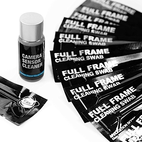 UES FFR24 Professional DSLR SLR Digital Camera CMOS and CCD Sensor Cleaning Swab Kits for Full-Frame Sensors: 14 X 24mm Full Frame Sensor Cleaning Swabs + 15ml Sensor Cleaner ()