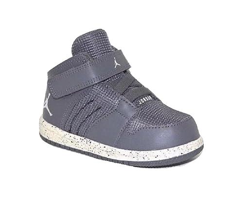 hot sale online adaa8 096b8 Nike Jordan Toddler s 1 Flight 4 Premium (BT) Dark Grey Pure Platinum-