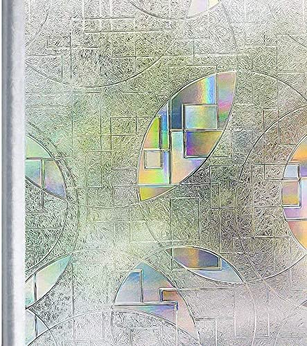 Homein Vinilo Ventana Electrostaticas Adhesivo Laminas Estático Anti UV Película Decorativa sin Pagamento de Cristal Arcoíris Fenómeno Fácil Desmontar y Reutilizar 90 * 200cm: Amazon.es: Hogar
