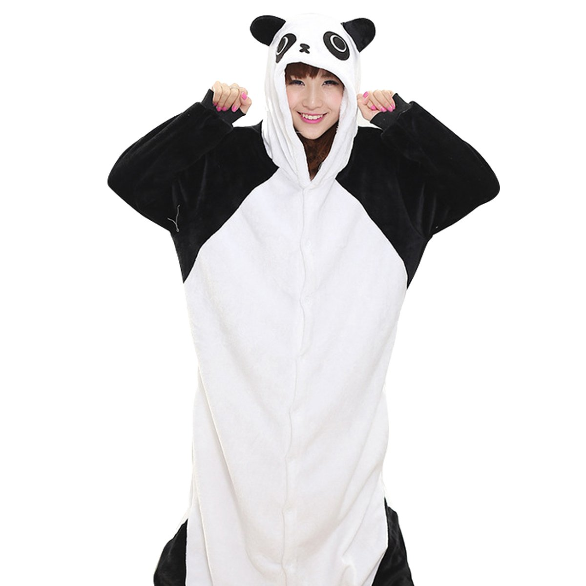Donna Uomo Donna Unisex in pile Animal Onesies–Pigiama Pigiama costumi Halloween Panda1 M Fit Height...