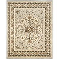 Safavieh Florenteen Collection FLR130-8012 Traditional Oriental Medallion Grey and Ivory Area Rug (6 x 9)