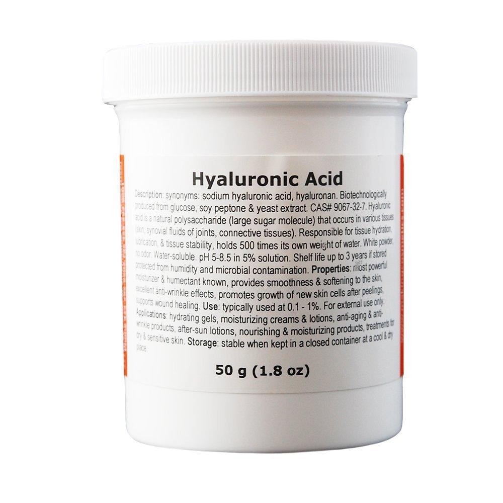 MakingCosmetics - HMW Hyaluronic Acid - 1.8oz / 50g - Cosmetic Ingredient