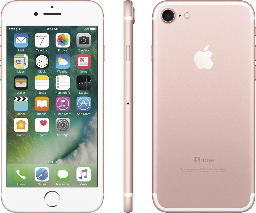 Apple iPhone 7 , GSM Unlocked, 128GB - Rose Gold (Certified Refurbished)