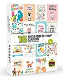 16 x KIDS Birthday Cards by Joy Masters Vol.1 | Multipack for Children | Large Set for Boys & Girls