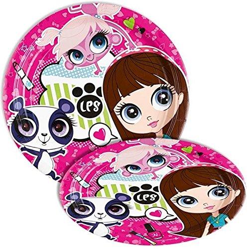 Littlest Pet Shop 23Cm Party Plates Pack Of -