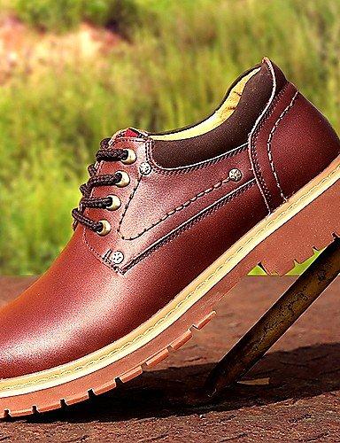 Ei&iLI Zapatos de Hombre Oxfords Oficina y Trabajo / Casual Cuero Negro / Marrón / Amarillo , black-us8.5-9 / eu41 / uk7.5-8 / cn42 , black-us8.5-9 / eu41 / uk7.5-8 / cn42 black-us8.5-9 / eu41 / uk7.5-8 / cn42
