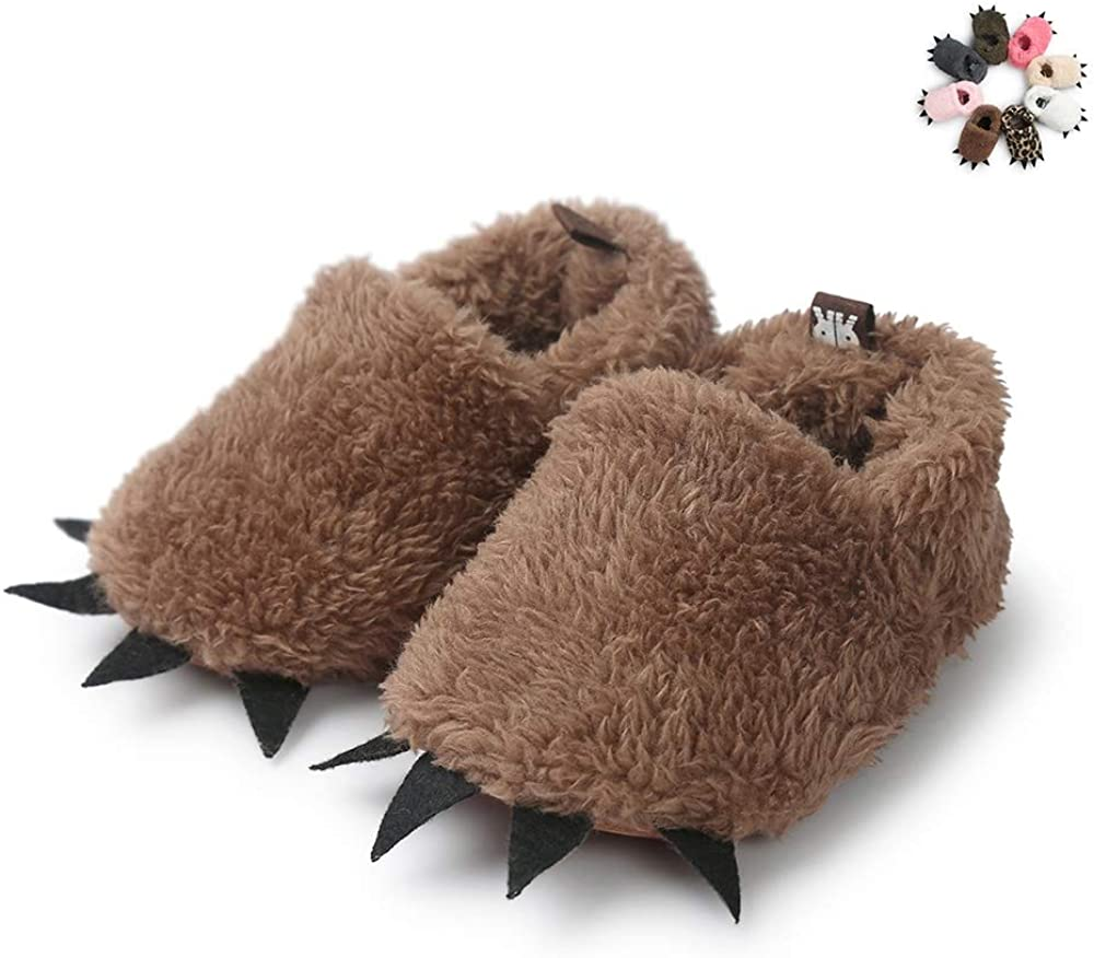 Vanbuy Baby Boys Girls Shoes Bear Paw Animal Slippers Boots Newborn Infant Crib Shoes