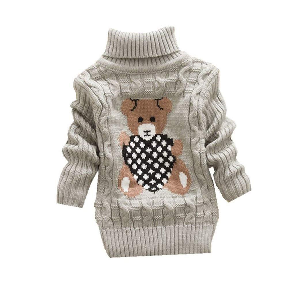 IEUUMLER Beb/é una ni/ña de Sweatershirt de Dibujos Animados Lindo Jersey de Manga Larga IE001-2