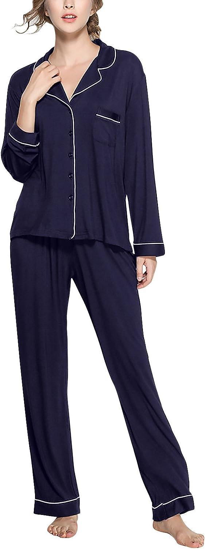 Dolamen Pijamas Camisón para Mujer, Mujer Algodón Modal Largo ...