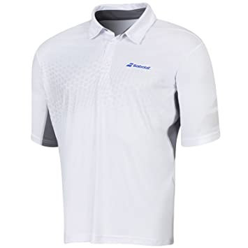 c7d8aec59753 Babolat Boys Tennis Polo Shirt - White - 10to12Y
