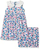 Rachel Riley Baby Girls' Rose Peter Pan Collar Dress & Bloomers, Multicoloured (P/B/I Mu11), 6-12 Months (Size: 6M)