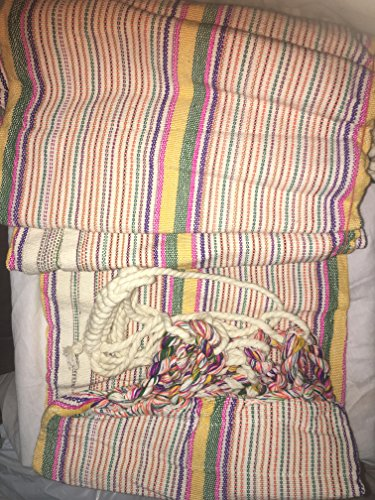 Handmade Multi Colored Handmade Hammock From Ecuador 9 feet length 3.5 feet wide (Ecuador Hammock)