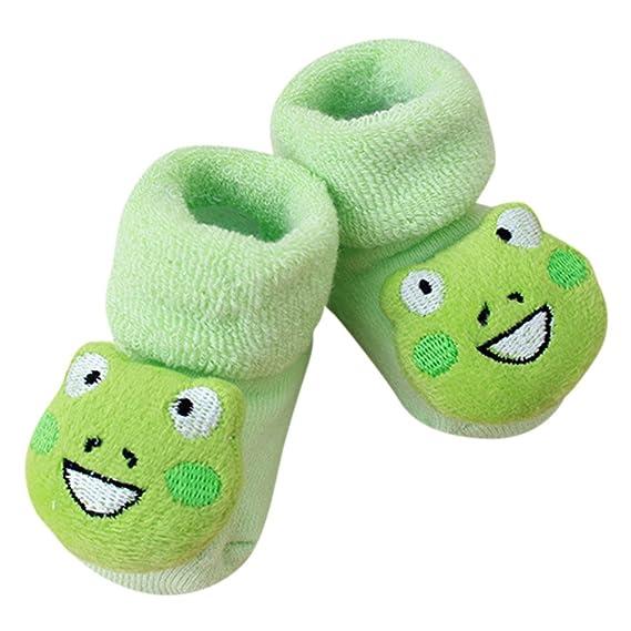Fossen Calcetines Bebe Niño Invierno Recien Nacido Niña 0-12 meses 3D Dibujos animados Animal Modelado Calcetines Antideslizantes Calcetines de piso (A): ...