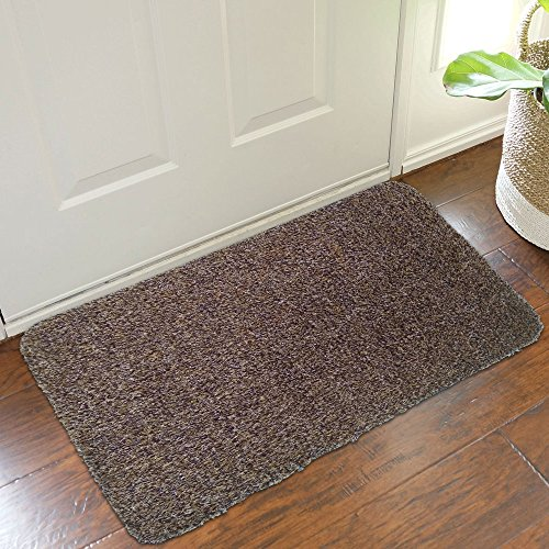 B&G Indoor Super Absorbs Mud Doormat Latex Backing Non Slip Door Mat for Front Door Inside Floor Dirt Trapper Mats Cotton Entrance Rug 18