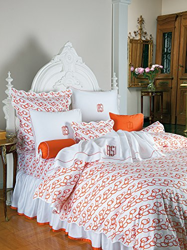 Solar Flat Sheets, Orange (Twin, each) by Schweitzer Linen