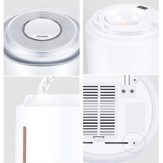 Humidificador ultrasónico de niebla fría de ión negativo - radiación cero, humedad constante inteligente, 5 purificaciones pesadas, ...