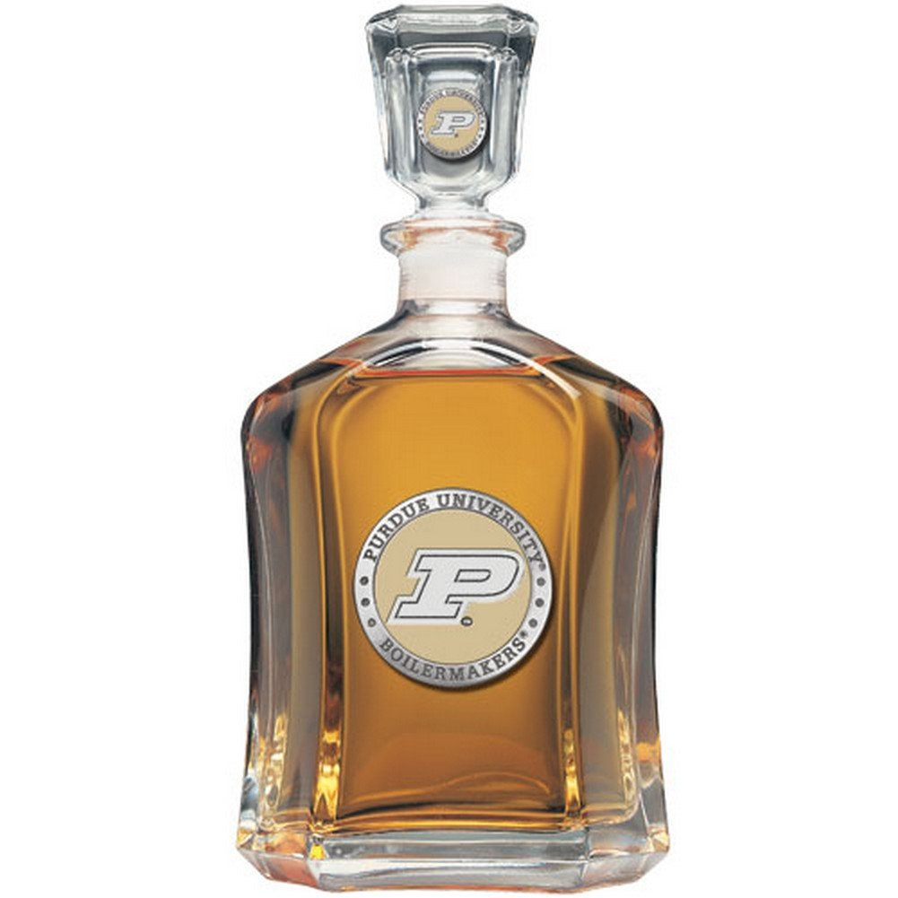 Team Color Logo Purdue Boilermakers Decanter Glass Bottle by Heritage Pewter (Image #1)