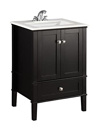 Simpli Home Nl Rosseau Es 24 2a Chelsea 24 Inch Bath Vanity In Black