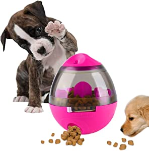 AIBOONDEE Tumbler Automatic Pet Slow Feeder Treat Ball Dog Toy for Pet Increases IQ Interactive,Food Dispensing Ball Dog/Cat Slow Feed Bowl