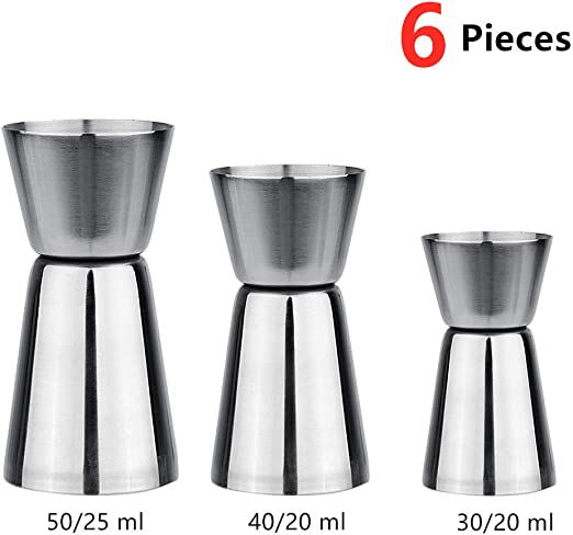 Stainless Steel Double Single Shot Measure Jigger Spirit Cocktail Drink Cup