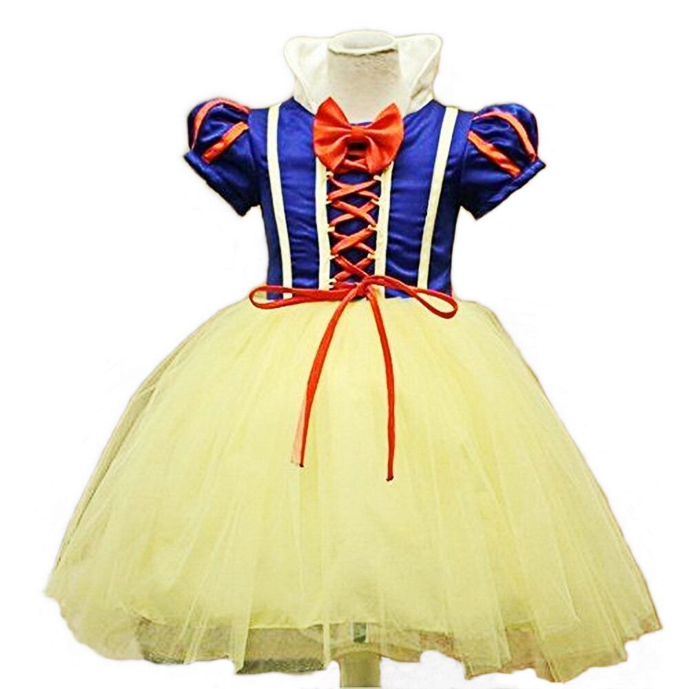 Disfraz de blancanieves para niña, Carnaval, Halloween, vestido de fiesta, traje de Cosplay Yeesn