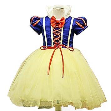 Disfraz de blancanieves para niña, Carnaval, Halloween, vestido de fiesta,