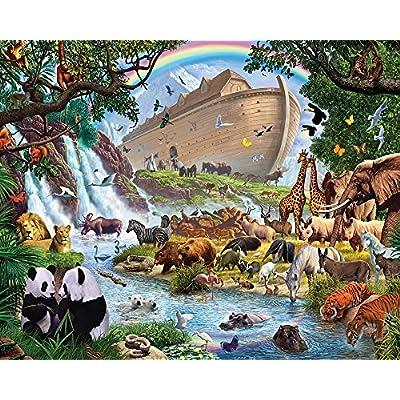Vermont Christmas Company Noah's Ark Jigsaw Puzzle 1000 Piece: Toys & Games