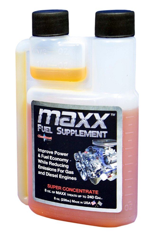CleanBoost Maxx 08oz Fuel Treatment for Gas & Diesel Fuel - Treats 240 Gallons