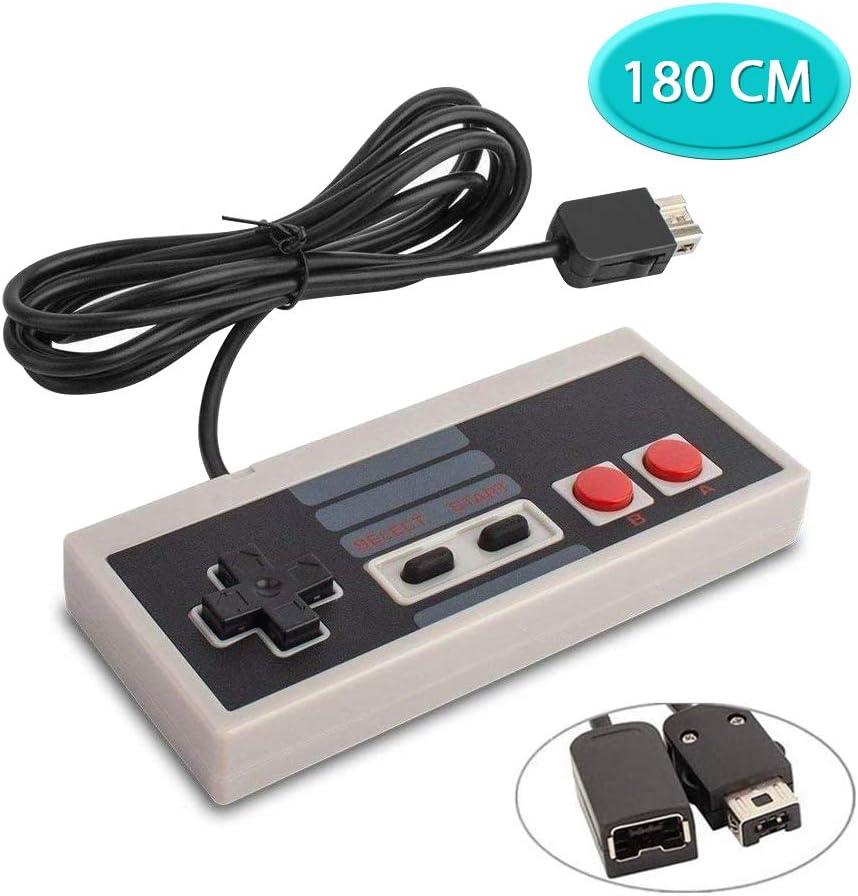6amLifestyle Nintendo NES Classic Mini Mando con Cable de 1,8m para Nintendo NES Mini Classic Edition 2016