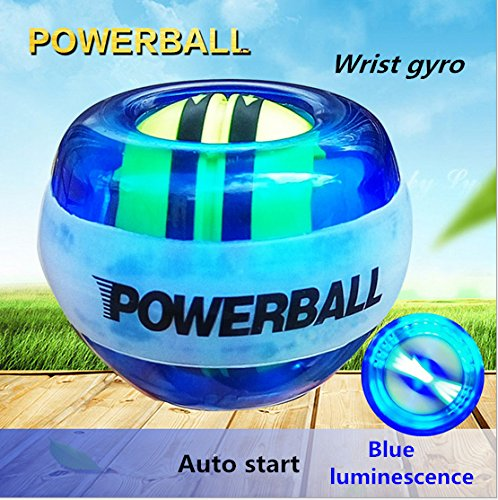 Nwell Spin Rainbow Lit AutoStart Spinner Gyroscopic Wrist and Forearm Exerciser with AutoStart and Multi-Lit LED, Blue by Nwell