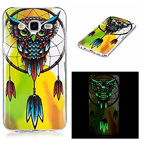 Galaxy J5 Prime Case, Firefish Night-luminous Glow In The Dark Fluorescence Soft Gel Anti Skiding Silicone Cell Phone Back Cover for Samsung Galaxy J5 (Affinity Technology Speakers)