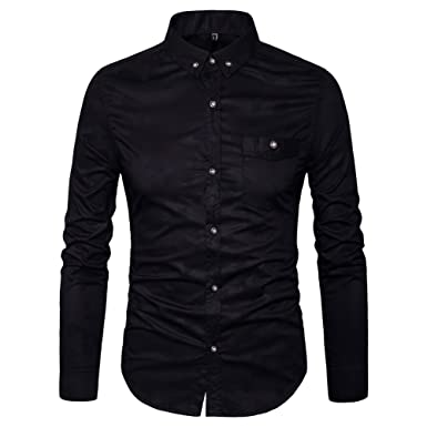 MUSE FATH Mens Printed Casual Button Down Shirt-Cotton Long Sleeve ...