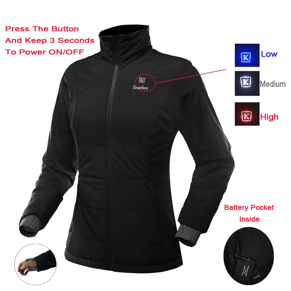 d45ee07b2 Smarkey Heated Jacket for Women With 1pcs 4400mAh Battery And Charger For  Winter Outdoor Wear (M)