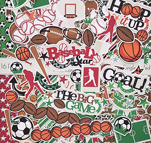 Die Cuts & Paper Set - Sports Life - by Miss Kate Cuttables - 16 Single - Sided 12