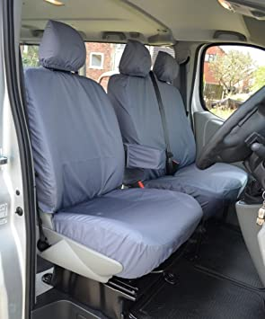 TRANSIT CONNECT Compatible . TC PROFESSIONALLY TAILORED front 3 Seater Waterproof Seat Covers in Black